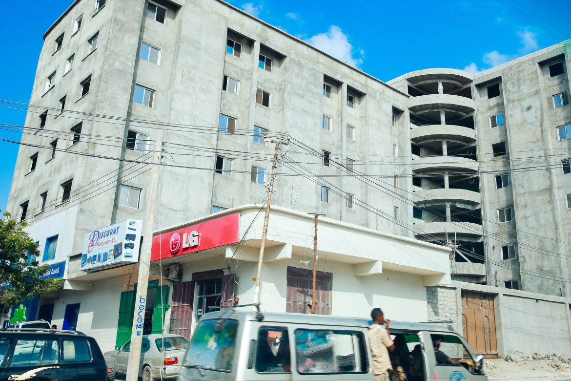 A new building coming up in Mogadishu.